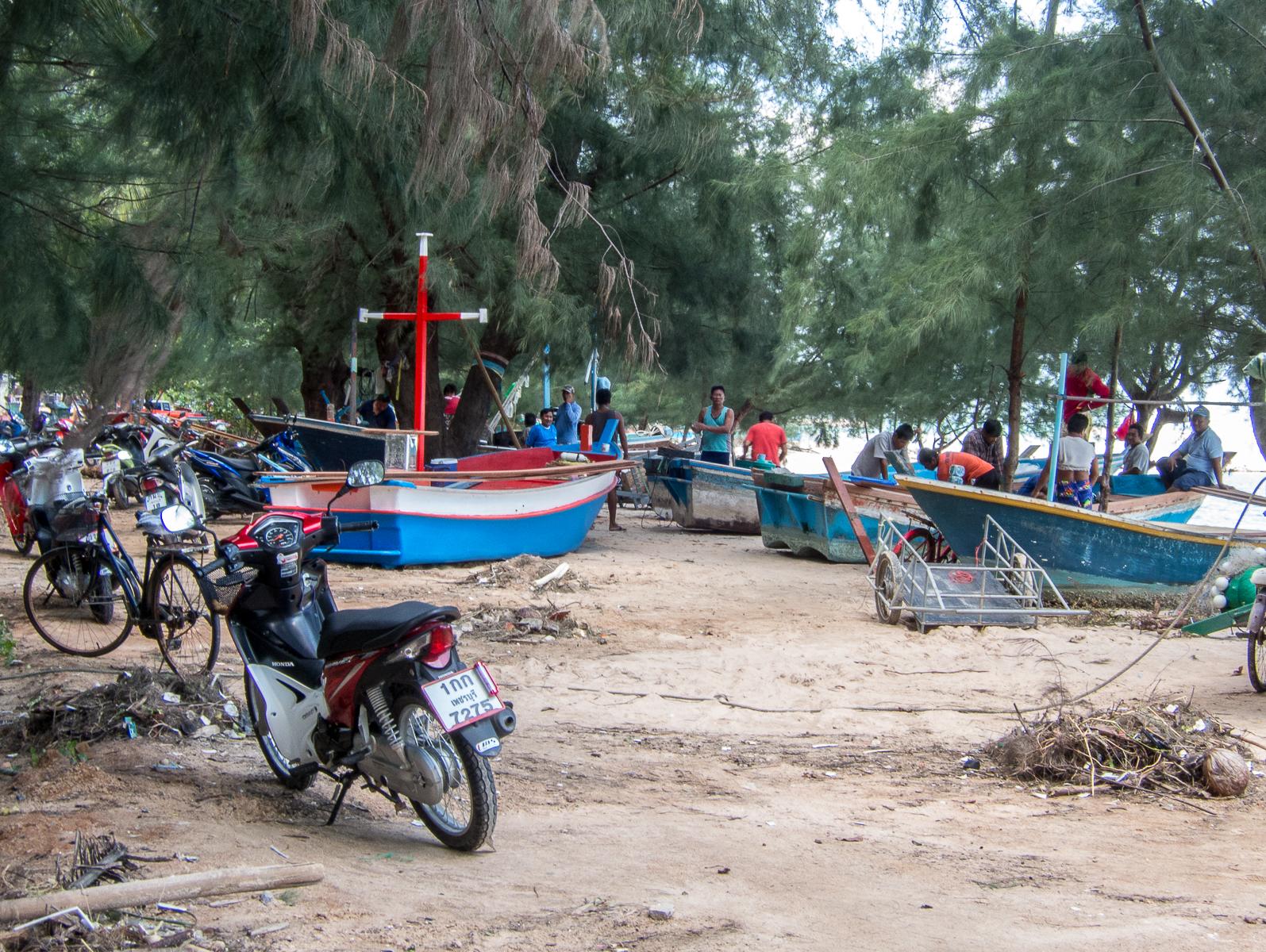 Fiskere på arbejde