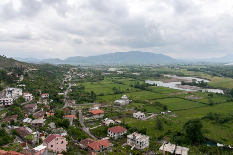 Albanien kig fra Rozafa