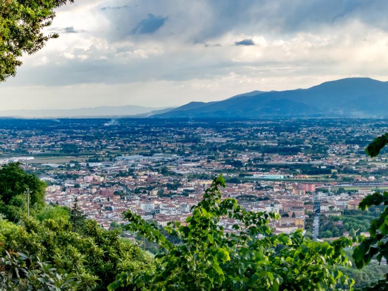 Montecatini Alto udsigt over Terme