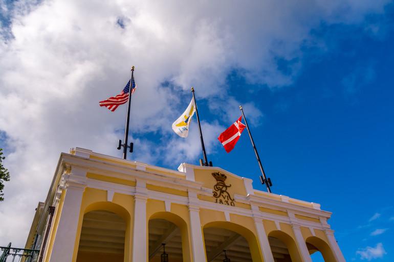 StCroix-guvernørbolig med flag